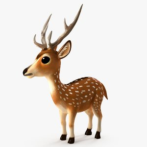 3D deer animation modeled