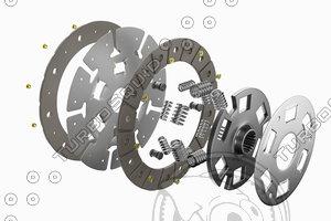 spare parts car clutch 3D model