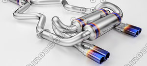 3D tuning exhaust car model