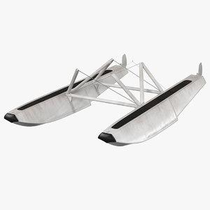 3D seaplane floats planes