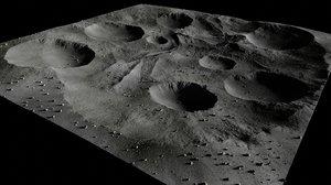 3D lunar blender model