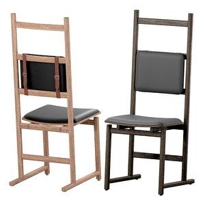shaker dining chair neri 3D
