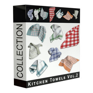 3D kitchen towels model
