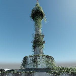 n seoul tower post 3D model