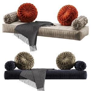 3D pillows seat cushions set