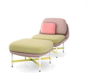 3D ottoman chair moroso model