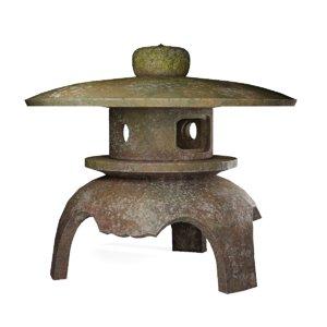 japanese stone lantern model