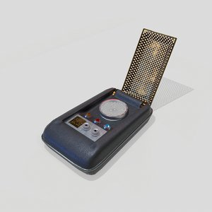 3D model sci-fi communicator