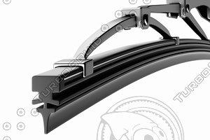 3D windscreen wiper blade car