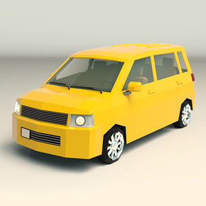 van minivan 3D model