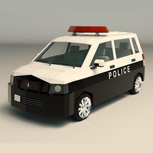 3D model police van