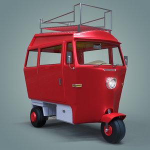 wheeled vehicle 3D model