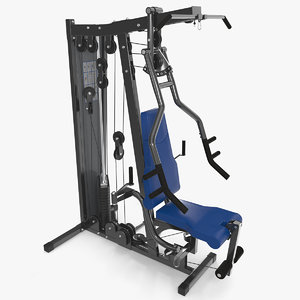 3D multi gym exercise equipment model