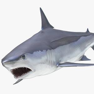 shortfin mako shark rigged 3D model