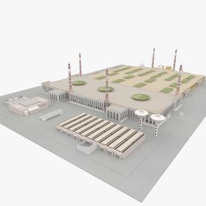 3D model masjid e nimra arafat