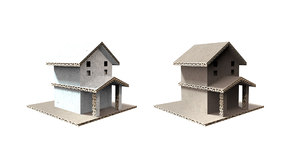 3D house set card model
