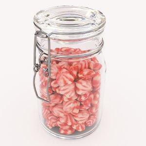 3D candy jar heart