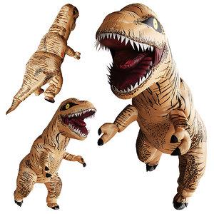 3D model inflatable dinosaur costume