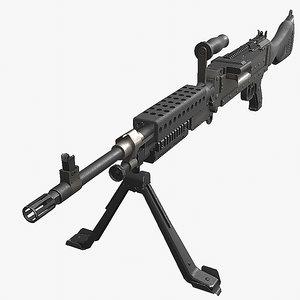 fn gun weapon 3D model