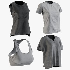 3D realistic women s tshirt