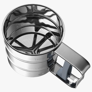 stainless steel flour sifter 3D model