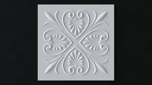 ceiling tile pattern 3D