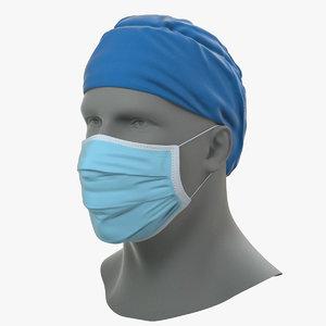 surgical mask cap 3D