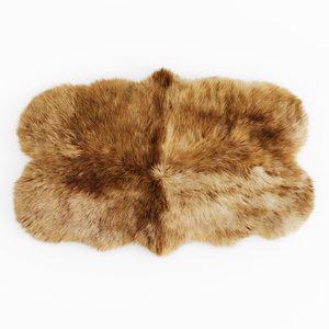 carpet animal skin sheepskin 3D model
