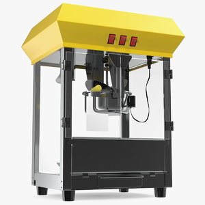 3D popcorn popper machine pop