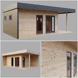 3D modul house model