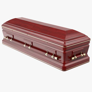 classic design wooden funeral 3D model