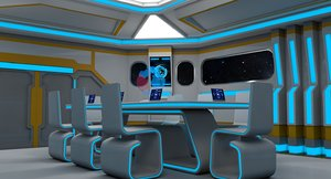 3D meeting room model