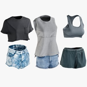 3D realistic women s shorts