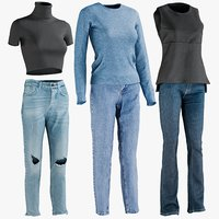 Women's Jeans with Tshirt Collection