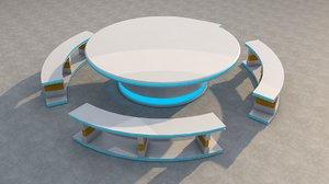 sci fi picnic table 3D model