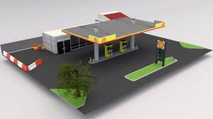 shell gas station model