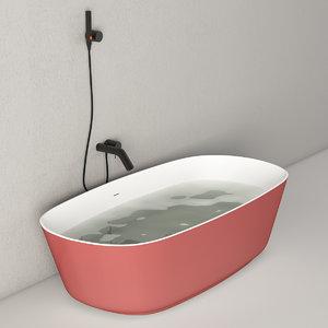 bathtub antonio lupi lucky 3D