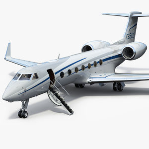 gulfstream g550 business jet 3D model