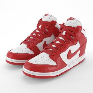 nike dunk shoes pbr 3D model