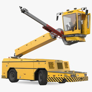 deicing vehicle generic rigged model