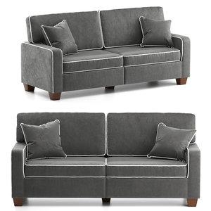 3D sofa removable cushions
