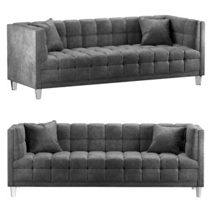 tufted velvet pillows 3D model