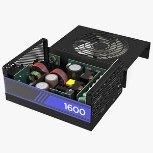 3D disassembled pc atx modular model