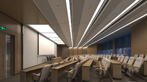 3D lecture hall room model