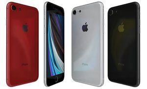apple iphone se 2020 3D model
