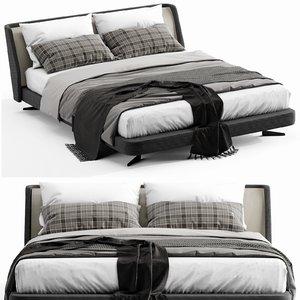 minotti spencer bed 3D model