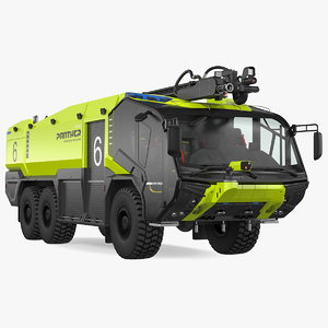 3D rosenbauer panther 6x6 arff model