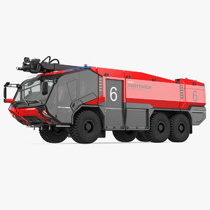 3D rosenbauer panther 6x6 firefighting