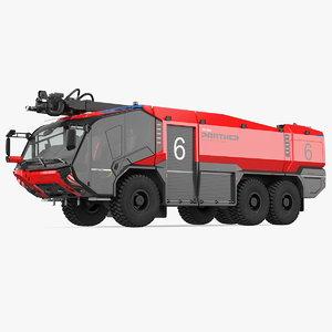 3D rosenbauer panther 6x6 firefighting