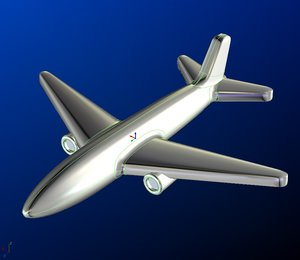 3D airplane pendant jewelry